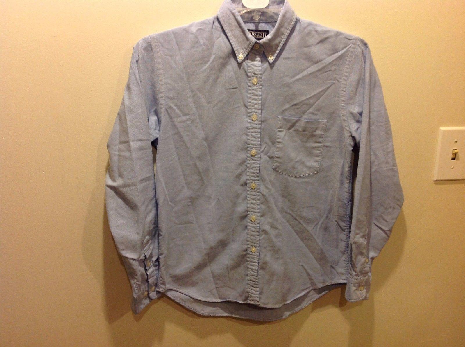 Lands End Pale Blue Long Sleeve Button Down Shirt Size 6
