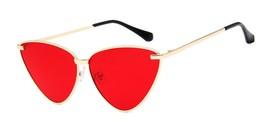 New Sexy Lady Retro Cat Eye Sunglasses Women Vintage Metal Frame Clear ... - $15.43