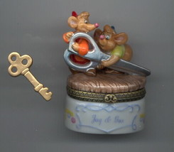 Disney Cinderella Gus & Jaq Mice Porcelain PHB in original box - $129.99