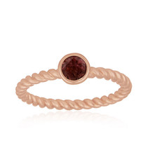 Pink Tourmaline Gemstone Womens Ring Silver 18k Rose Gold Plated Jewelry - $14.00