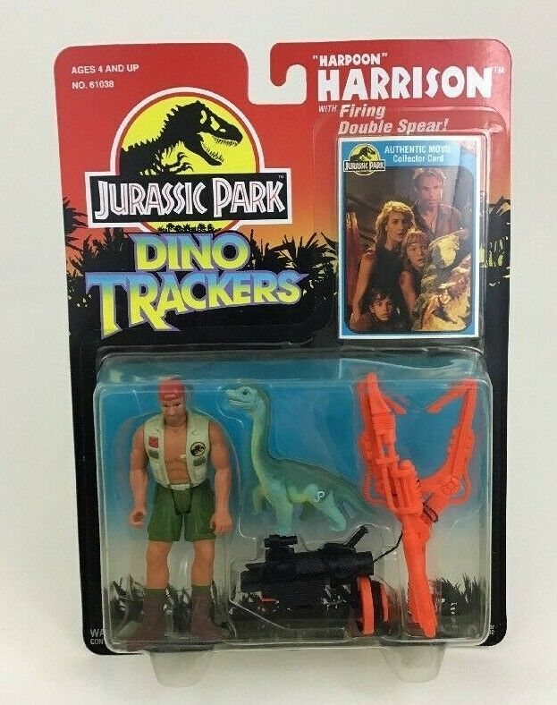 "Harpoon Harrison Jurassic Park Dino Tracker 4"" Figure Kenner Original 90s 1993"