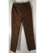 Women's Jeans Brown Rust Burnt Sienna Size 6 Gloria Vanderbilt Amanda - $14.84