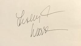 Lesley Ann Warren Autographed Hand Signed 3x5 Index Card Cinderella w/COA - $19.99