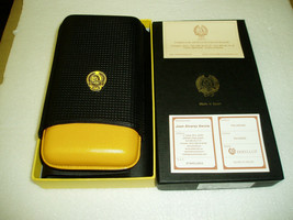 """SWEET COHIBA SUBLIME LEATHER 3 FINGER CIGAR CASE """"HAND MADE IN SPAIN"""" - $49.95"""