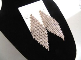 """Department Store 3"""" Gold Tone Cascading Crystal Dangle drop Earrings HH471 - $14.39"""