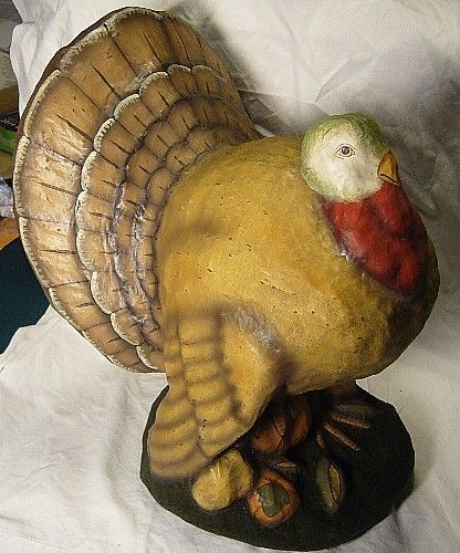 Bethany Lowe Thanksgiving Large Paper Mache Turkey