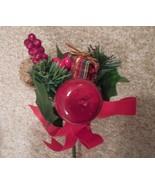9 christmas tree floral pick, christmas tree pick, christmas apple decor... - $50.00
