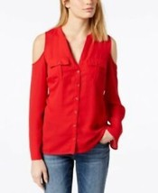 INC International Concepts womens Cold-Shoulder long sleeve Blouse Top R... - $19.60