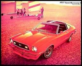1977 Ford Mustang II Dlx Color Brochure Cobra Mach I - $3.54