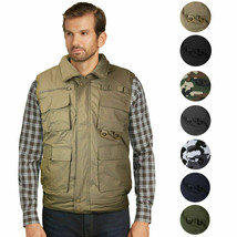Men's Premium Multi Pocket Zip Up Military Fishing Hunting Utility Tactical Vest