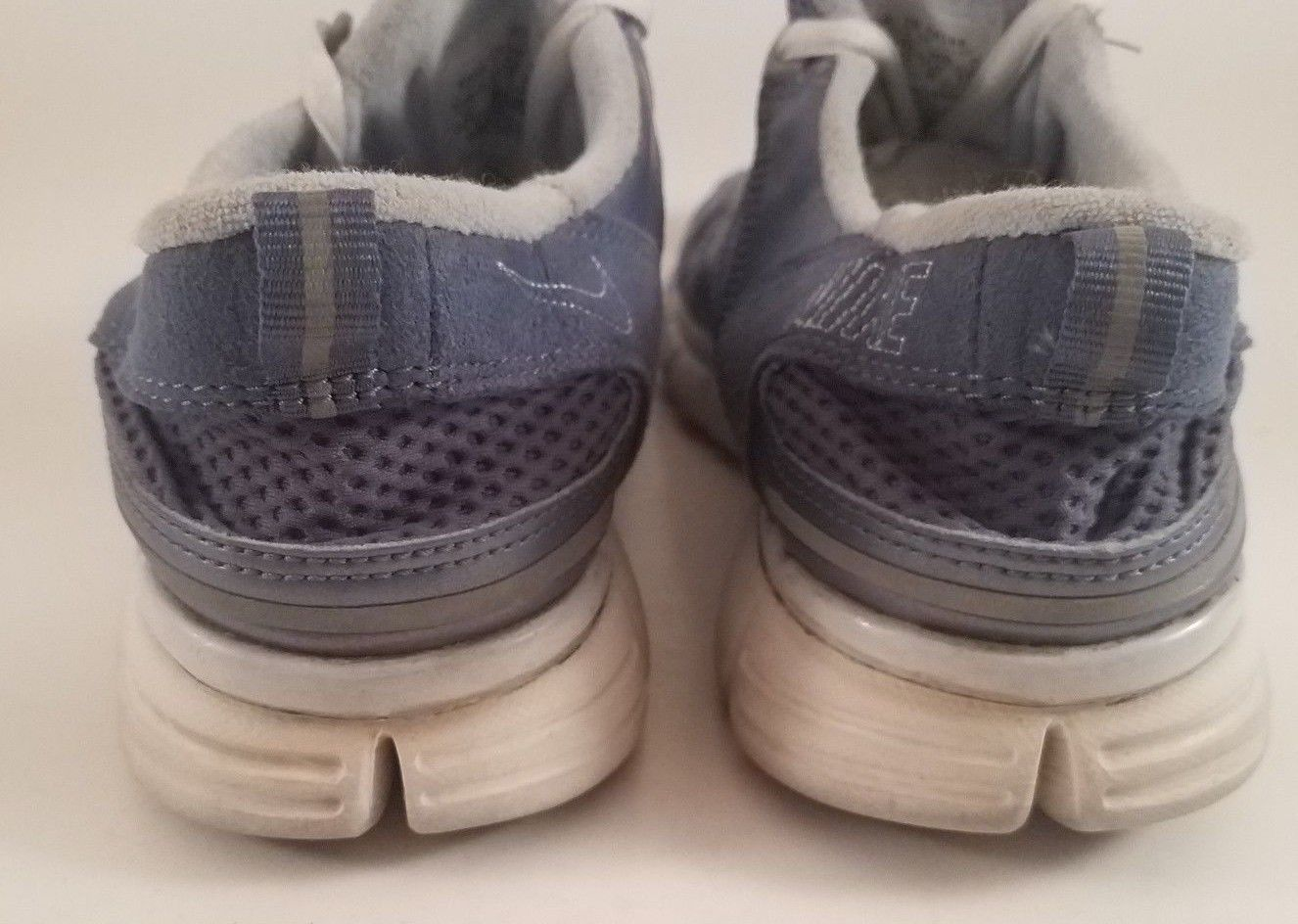 the best attitude a0557 e6b28 ... Nike Free Flyknit Dark Blue and Grey Foil Wolf Shoes for Women Size US  10 ...