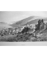 MIDDLE EAST Isreal Tiberias Sea of Galilee - 1883 Fine Quality German En... - $21.42