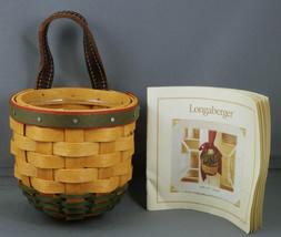 Longaberger Little Elf Basket with Protector NEW 19179 - $32.95