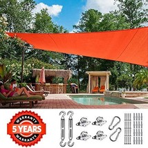 Quictent 26 X 20 ft 185G HDPE Rectangle Sun Shade Sail Canopy 98% UV Block Outdo