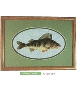 YELLOW PERCH FISH  -  CROSS STITCH PATTERN ONLY    HM - RUP - $6.39