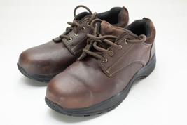 Hush Puppies 8 Wide Brown Steel Toe Work Shoe - $35.00