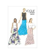 Vogue Ladies Sewing Pattern 9173 Floor Length Tiered Skirts - $18.80