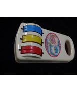 Vintage  Playskool Baby Chimes Toy No. 42 musical roller bear cat orange - $8.00