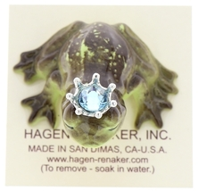 Hagen-Renaker Miniature Frog Prince Kissing Birthstone 03 March Aquamarine image 5