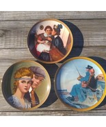 Lot of 3 Norman Rockwell Plates-Edwin M Knowles/Bradford Exchange Numbered - $19.55