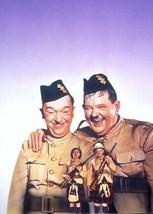 Stan Laurel & Oliver Hardy smiling portrait Bonnie Scotland 5x7 inch photo - $5.75