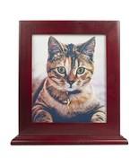 Ihomeu Dog Urn Handmade Solid Wood Urn Cat Urn red - $40.79