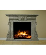 """Fireplace Surround Mantel Travertine Marble Living Room Great Room 50"""" F... - $3,498.00"""