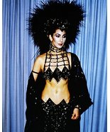 Cher Amazing Black Costume Head Dress Bare Midriff 1980'S 16x20 Canvas G... - $69.99