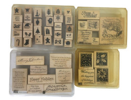 Stampin' Up! 4 Christmas Rubber Stamps Sets-Season's Greetings/Sleigh Ri... - $20.79