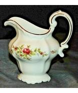 Johann Haviland Bavarian German China Moss Rose-Gold AA20-7320J Creamer - $89.95