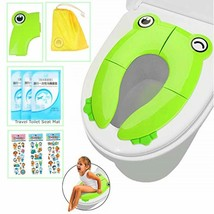 Portable Potty Training Seat Folding Travel Potty Toilet Seat with Non S... - $14.60
