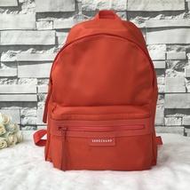 France Made Longchamp Le Pliage Neo Medium Backpack Bag Orange 1119578422 - $175.00