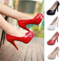 OL Office Fashion Ladies Platform High Heels New Arrival Round Toe Red Bottom Hi