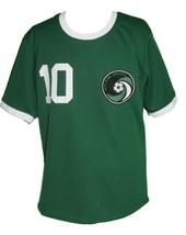 Pele #10 NY Cosmos New Men Soccer Football Jersey Green Any Size image 1