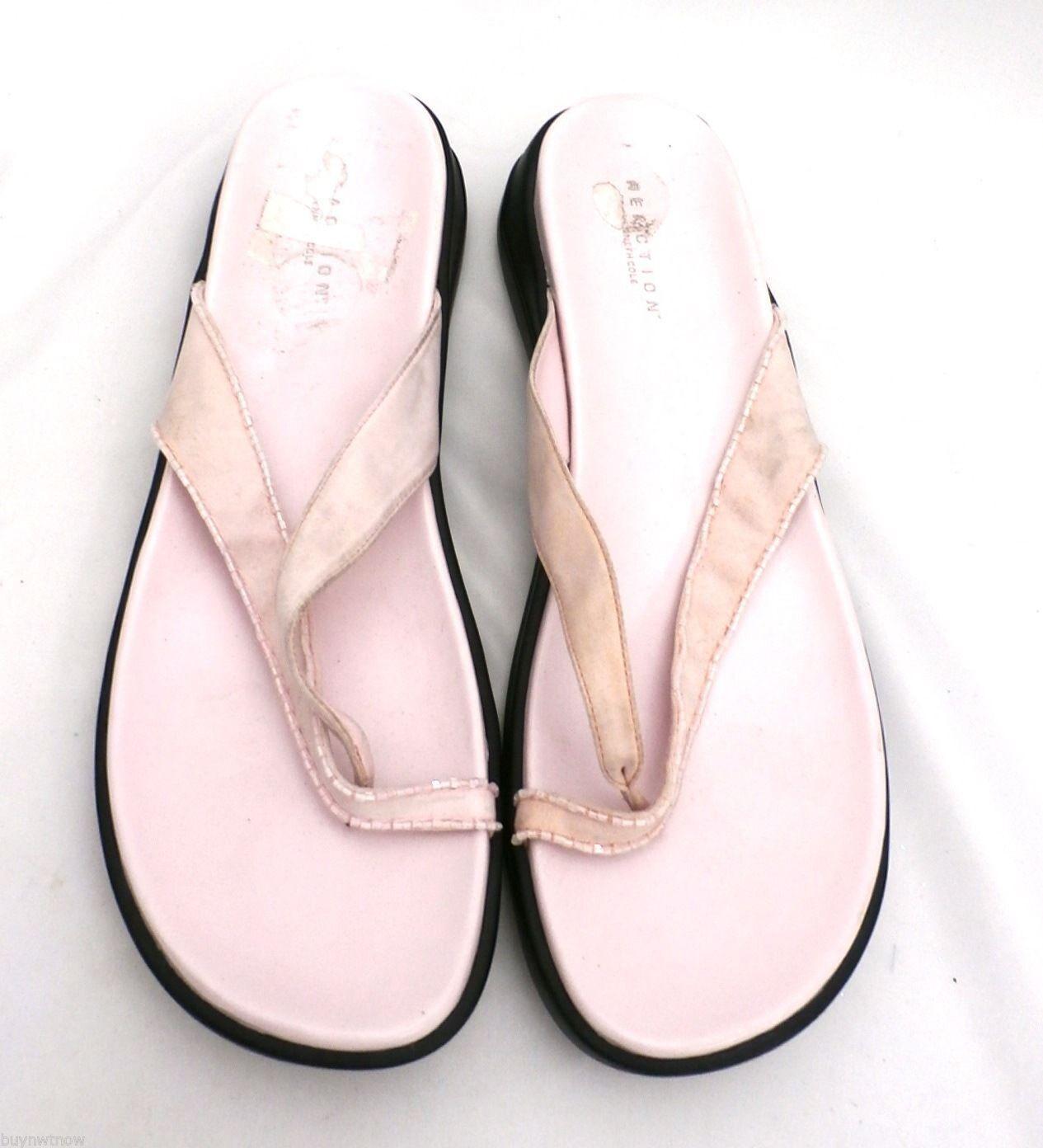 Kenneth Cole Reaction Pink Razzle Dazzle Thongs Flip Flops Sandals Womens 10
