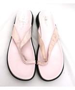 Kenneth Cole Reaction Pink Razzle Dazzle Thongs Flip Flops Sandals Women... - $23.50