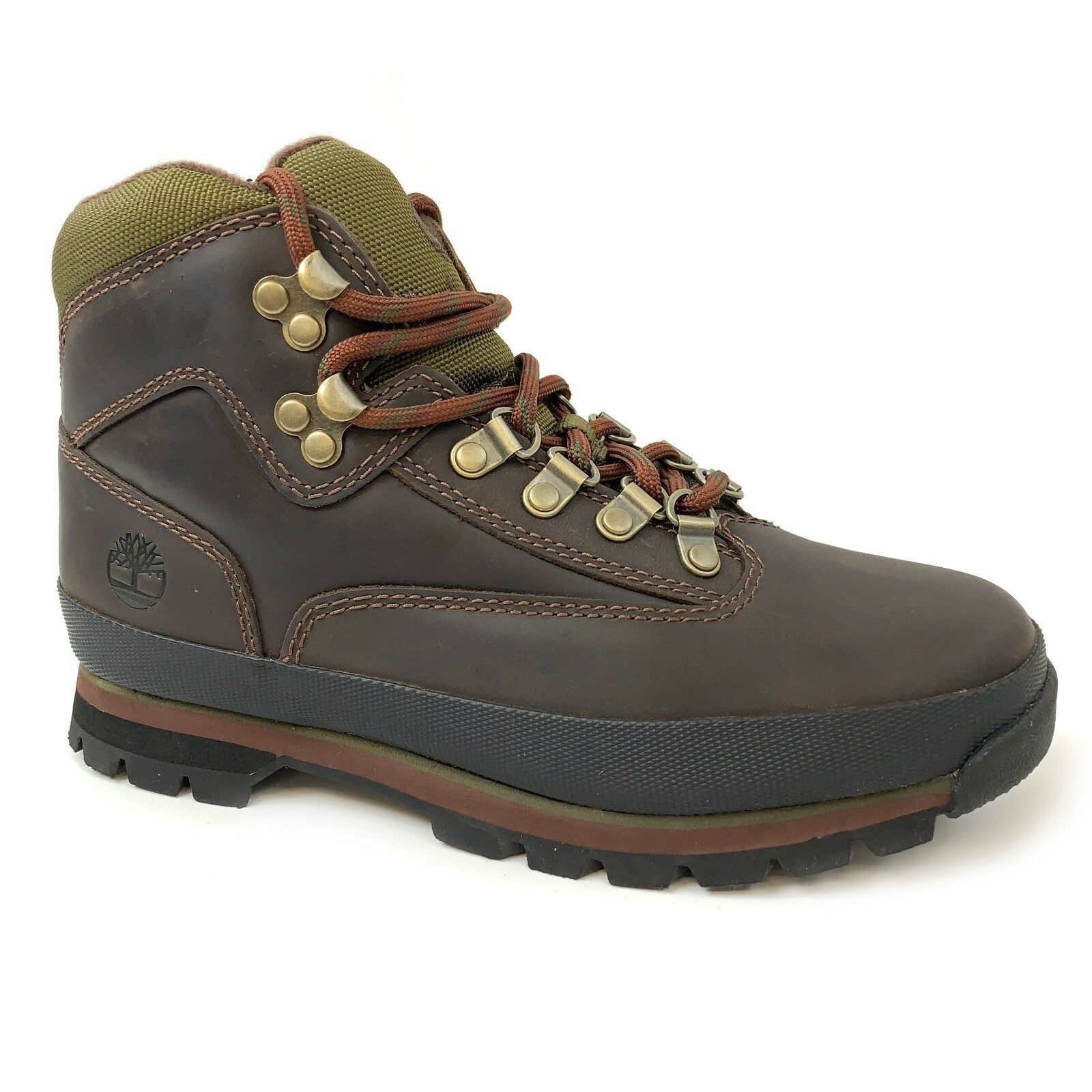 Timberland Women's Euro Hiker Brown Leather Hiking Boots 8364B - $79.99