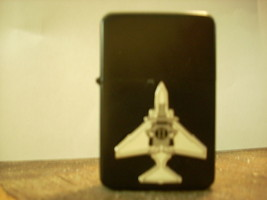 Polished Chrome US Navy Marine Phantom II Black Lighter  - $14.84
