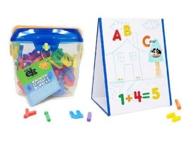 EduKid Toys MAGNETIC TABLETOP EASEL 2 SIDED DRAWING BOARD & LETTERS IN J... - $31.99