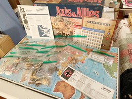 1984 MIlton Bradley Axis & Allies WWII Gamemaster Series Board Game Spri... - $89.99