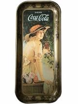 Cola Cola Advertising Tray Metal 1916 WWI Girl Elaine Retro Vtg 1972 Repop - $19.79