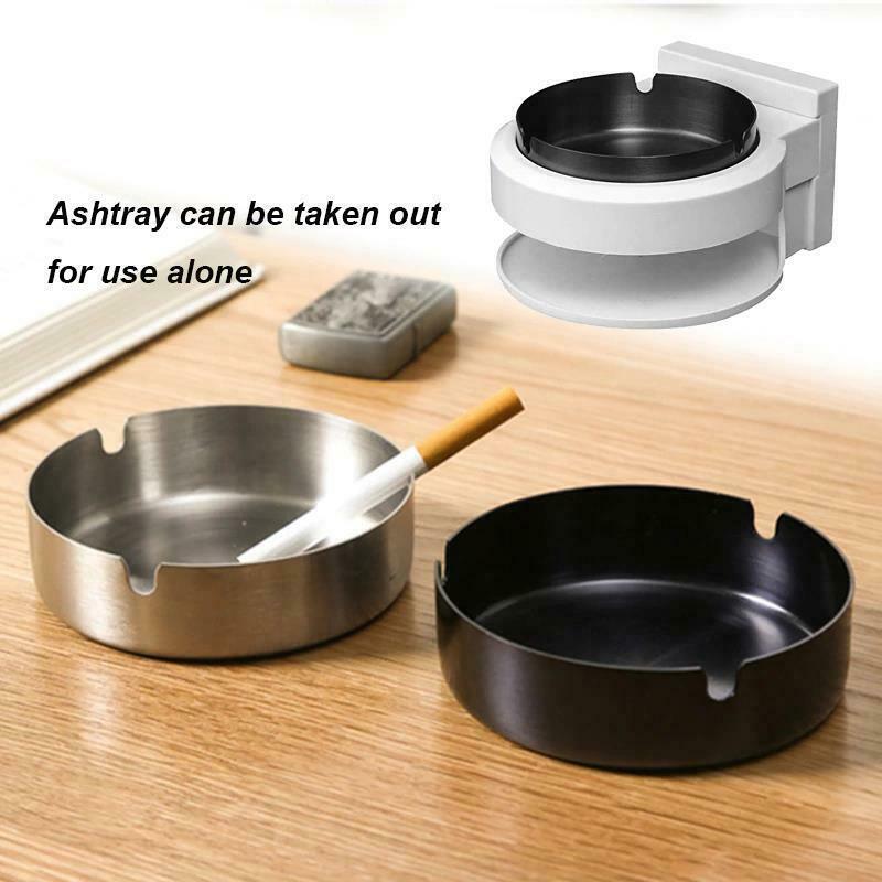 Stainless Steel Ashtray Creative Wall Mounted Bathroom Ash Storage Portable Box image 4
