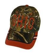 Ohio Window Shade Font Men's Adjustable Baseball Cap (Camo/Red) - $12.95