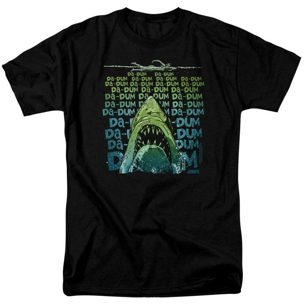 Jaws Movie Retro 70s 80s Amity Island Da-Dum Brody graphic t-shirt UNI1093B