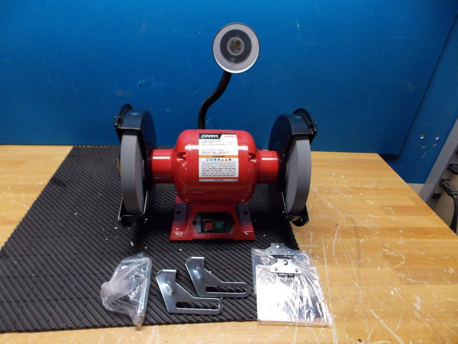 Sunex Bench Grinder With Light 8 Quot Wheel Dia 3 4 Hp 3450