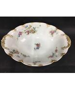 CH FIELD HAVILAND GDA France LIMOGES Pink  & Blue Floral Vegetable Bowl ... - $24.99