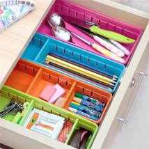 Plastic Desk Organizer Memo Pen Stationery Storage Box Case Desk Drawer ... - $10.73