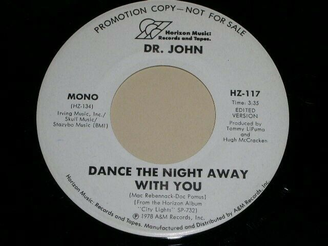 Primary image for DR. JOHN DANCE THE NIGHT AWAY WITH YOU 45 RPM RECORD VINYL A&M LABEL PROMO