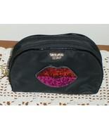 Victoria's Secret Runway Patch Sequin Bling Lips Makeup Beauty Case Bag ... - $19.99
