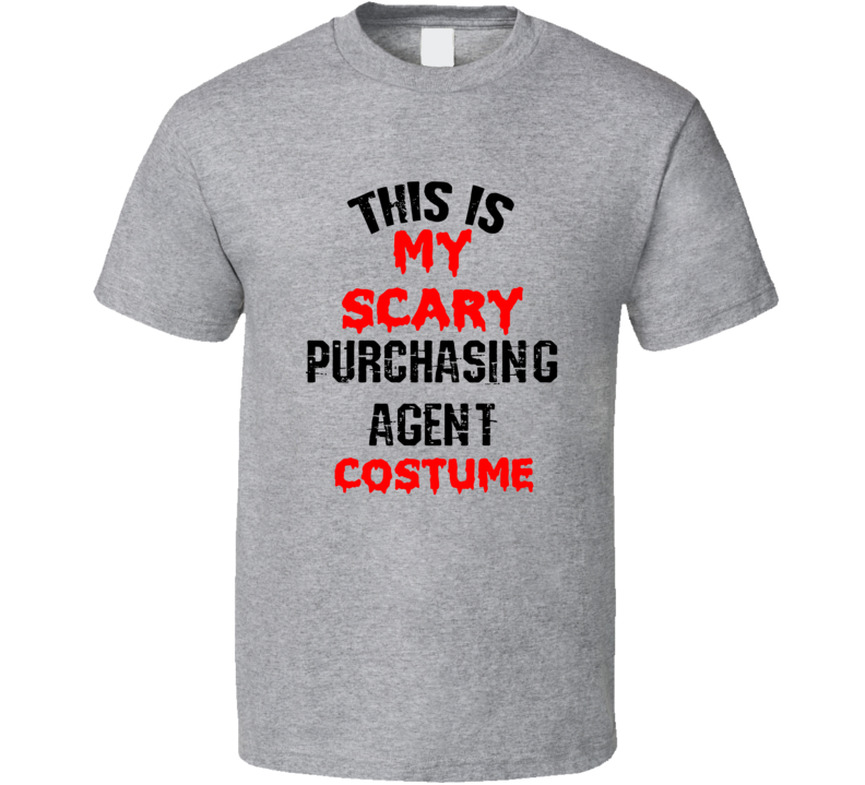 Primary image for This Is My Scary Purchasing Agent Costume Funny Occupation Halloween T Shirt